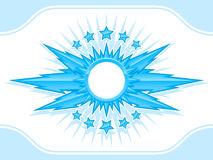 Blue shiny coat of arms with stars Stock Photo