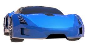 Blue shiny conceptual sports car of the future. Stock Image