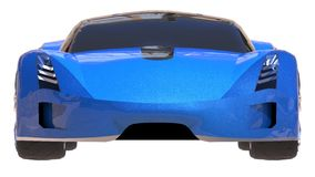 Blue shiny conceptual sports car of the future. Stock Images