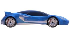 Blue shiny conceptual sports car of the future. Stock Photos