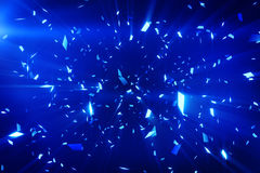Blue shiny confetti background Stock Image