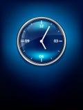 Blue shiny elegant clock royalty free illustration