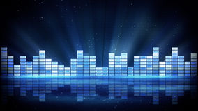 Blue shiny equalizer abstract background Stock Image