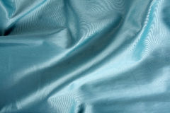 Blue Shiny Fabric Royalty Free Stock Images