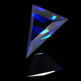 Blue shiny gem Royalty Free Stock Photo