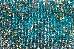 Blue shiny gems Royalty Free Stock Photos