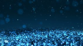 Blue shiny glitter seamless loop abstract texture close up macro background