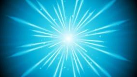 Blue shiny glowing beams video animation. Blue shiny glowing beams motion design. Video animation HD 1920x1080 stock illustration
