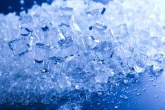 Blue and shiny ice cubes Stock Image