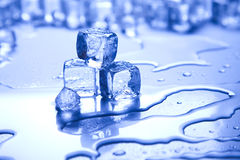 Blue and shiny ice cubes Royalty Free Stock Photography