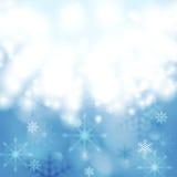Blue shiny light vector Christmas design Stock Image