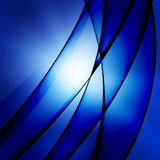 Blue shiny lines Stock Images