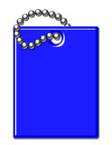 Blue Shiny Luggage Tag Illustration Royalty Free Stock Image