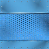 Blue shiny metal background texture Royalty Free Stock Image
