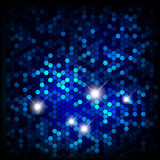 Blue shiny mosaic background vector illustration