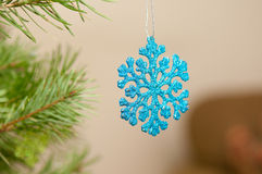 Blue shiny ornament Royalty Free Stock Images