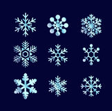 Blue shiny snowflakes  Royalty Free Stock Photo