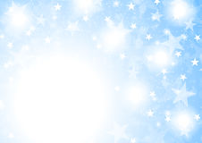 Blue shiny sparkling stars abstract background Stock Images