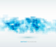 Blue shiny squares technical background. Vector Royalty Free Stock Photos