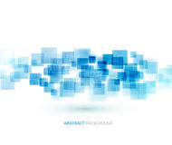 Blue shiny squares technical background. Vector Stock Photos