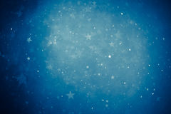 Blue shiny stars background Royalty Free Stock Photos