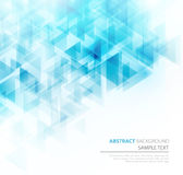 Blue shiny technical background. Vector. Blue shiny triangle shapes technical background. Vector technology design Stock Photo