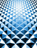 Blue shiny triangle background 3d illustration Royalty Free Stock Images