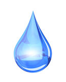 Blue shiny water drop Royalty Free Stock Photography