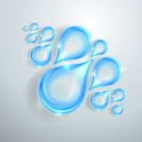 Blue shiny water drops. Blue shiny transparent water drops Stock Photos