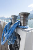 Blue ship rope Royalty Free Stock Photography