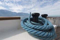 Blue ship rope Stock Image