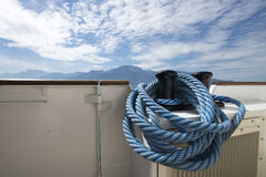 Blue ship rope Royalty Free Stock Photo