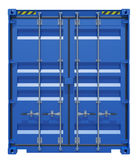 Blue shipping container Royalty Free Stock Image