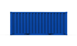 Blue Shipping Container Stock Photography