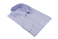 Blue shirt. Isolated on white Royalty Free Stock Photo