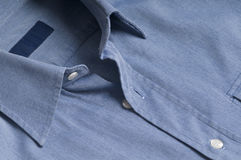 Unbuttoned Shirt. High quality unbuttoned mens shirt with empty label Stock Photos