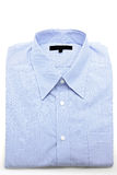 Blue shirt. Blue business shirt on white background Stock Photography