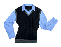 Blue shirt and black sweater Royalty Free Stock Images