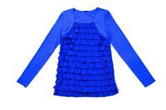 Blue shirt blouse jacket isolated on white Stock Photo