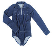 Blue shirt-body Stock Photo