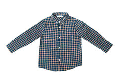 Blue shirt for the boy. On a white background isolated Stock Photos