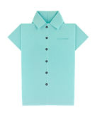 Blue shirt with buttons of origami Stock Image