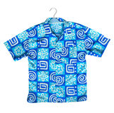 Blue shirt on a hanger Royalty Free Stock Image