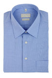Blue shirt. Isolated on white background Stock Images