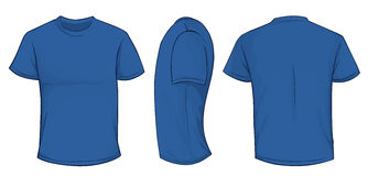 Blue Shirt Template Stock Photo
