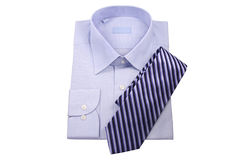 Blue shirt with tie Stock Photos