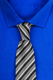 Blue shirt with tie Royalty Free Stock Photography