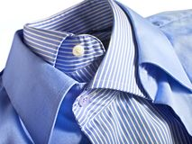 Blue shirts royalty free stock photo