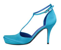 Blue shoe Royalty Free Stock Images