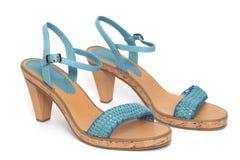 Blue shoe Stock Image